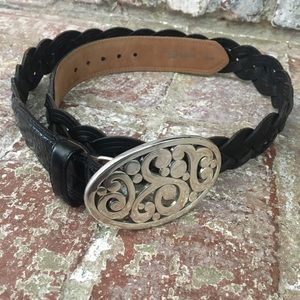 Brighton Woman's Braided Leather Belt